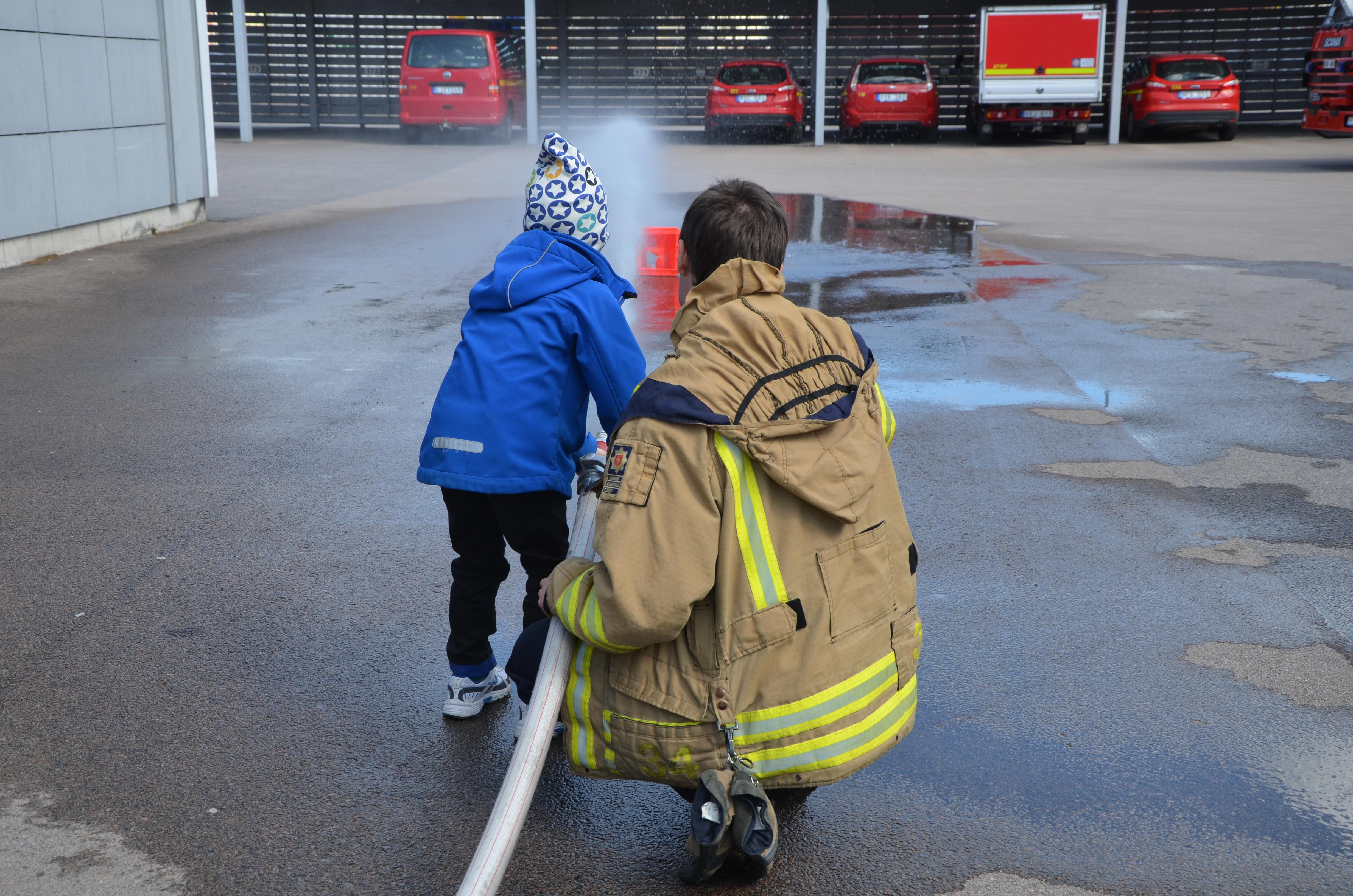 Besök på brandstationen